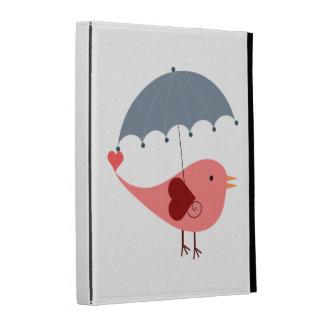Bird with Umbrella iPad Folio Case