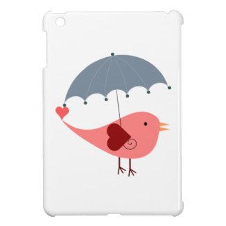 Bird with Umbrella iPad Mini Cover