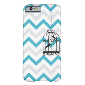 Birdcage Chevron ZigZag Vintage Blue iPhone 6 case Barely There iPhone 6 Case