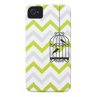 Birdcage Chevron ZigZag Vintage Green iPhone 4 iPhone 4 Cases