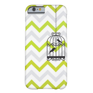 Birdcage Chevron ZigZag Vintage Green iPhone 6 cas Barely There iPhone 6 Case