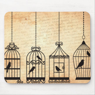 Birdcage Silhouettes Mouse Pad