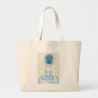 Birdcage Wig Large Tote Bag