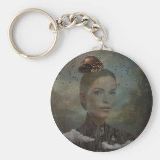 Birder Basic Round Button Keychain
