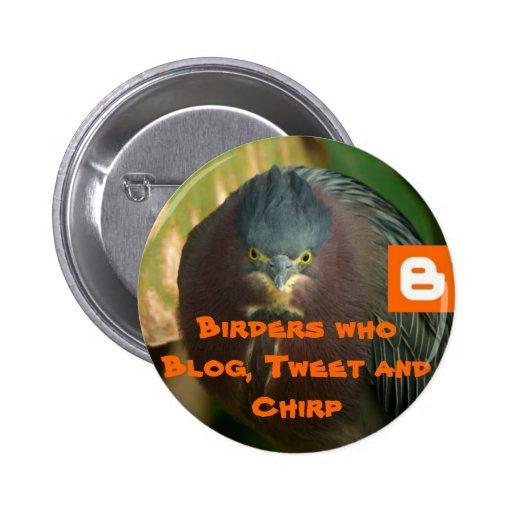 Birders who Blog, Tweet and Chirp Pin
