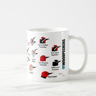 BirdFace Woodpeckers Mug (with labels)