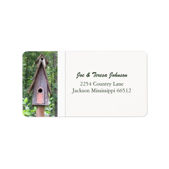 Birdhouse Address Labels