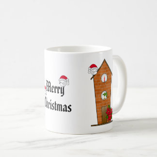Birdhouse All Decked Out for Christmas Coffee Mug