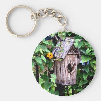 Birdhouse Basic Round Button Keychain
