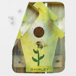 Birdhouse by Shirley Taylor Baby Blanket