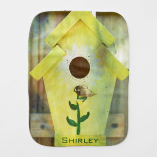 Birdhouse by Shirley Taylor Burp Cloth