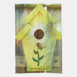 Birdhouse by Shirley Taylor Kitchen Towel