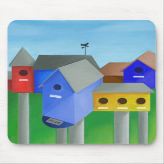 Birdhouse City mousepad