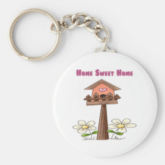 Birdhouse Home Sweet Home Basic Round Button Keychain
