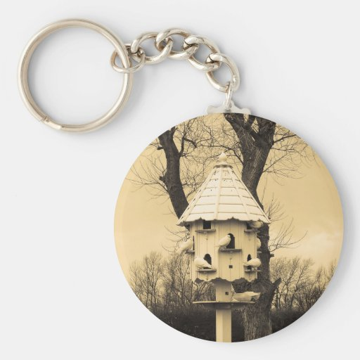 Birdhouse Key Chains