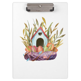 birdhouse on nest clipboard