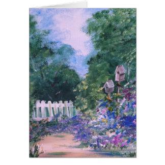 Birdhouse Path Card