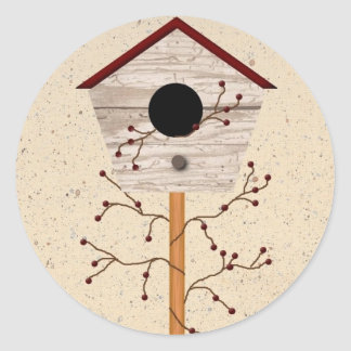 Birdhouse Sticker