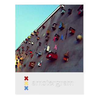 Birdhouses Amstergram Postcard