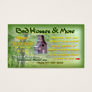 Birdhouses in southern Missouri {custom designed} Business Card