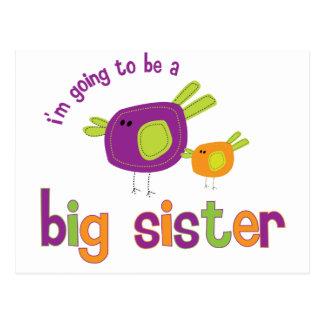 birdie big sister to be post card