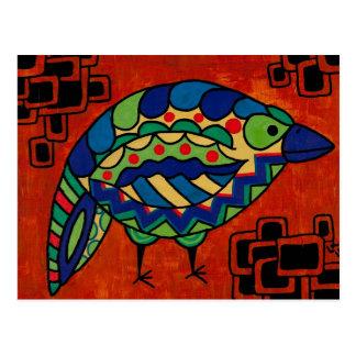 """Birdie Boo"" by Lara Kulpa Postcard"