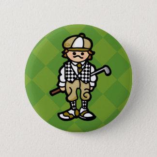 birdie button. 2 inch round button