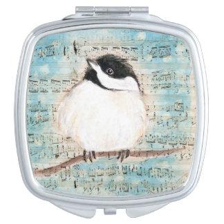 Birdie Chickadee Music Compact Mirrors