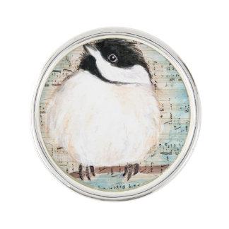 Birdie Chickadee Music Lapel Pin
