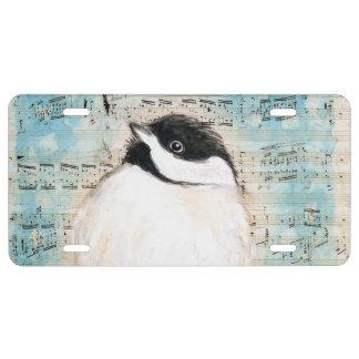 Birdie Chickadee Music License Plate