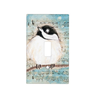 Birdie Chickadee Music Light Switch Cover