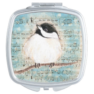 Birdie Chickadee Music Makeup Mirror