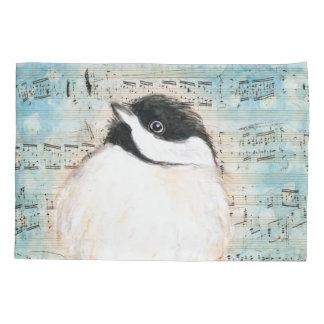 Birdie Chickadee Music Pillowcase
