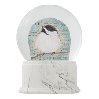 Birdie Chickadee Music Snow Globe