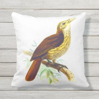 Birdie : Cute Bird Singing Throw Pillow