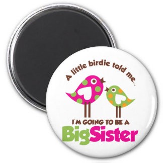 Birdie Going To Be A Big Sister 2 Inch Round Magnet