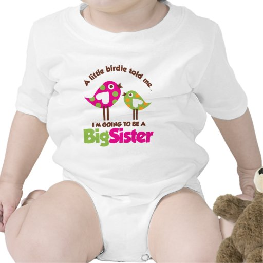 Birdie Going To Be A Big Sister Rompers