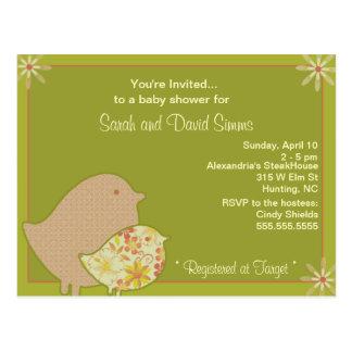 Birdie Invites Postcard