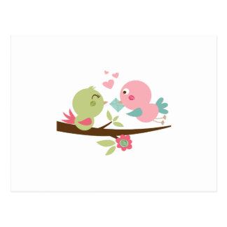 birdie love letter postcard