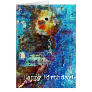 Birdie Mixed Media Birthday Card