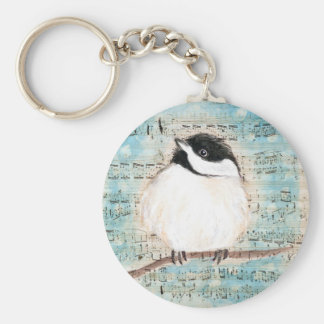 Birdie Music Song Keychain