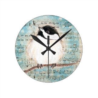 Birdie Music Song Round Clock