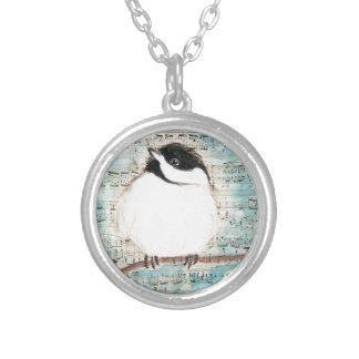 Birdie Music Song Silver Plated Necklace