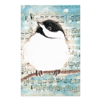 Birdie Music Song Stationery