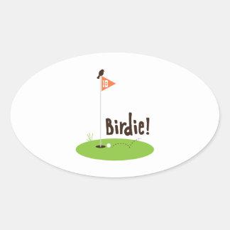Birdie Oval Sticker