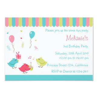 Birdie Party Invitation