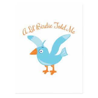 Birdie Told Me Postcard