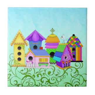 Birdie Village Tiles and Trivets