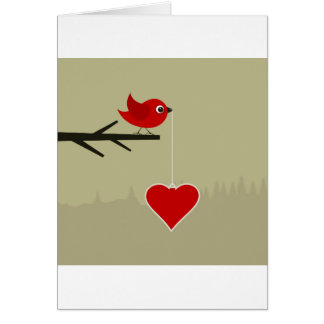 Birdie with heart card