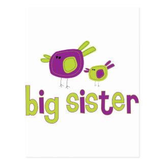 Birdies Big Sister T-shirt Postcards